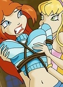 The Winx girls Bloom and Stella get into heavy lesbian bondage!